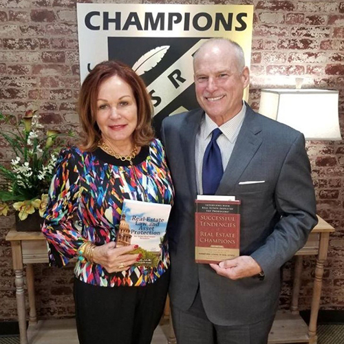 David Willis with Rita Santamaria, Owner of Champions, Real Estate Schools