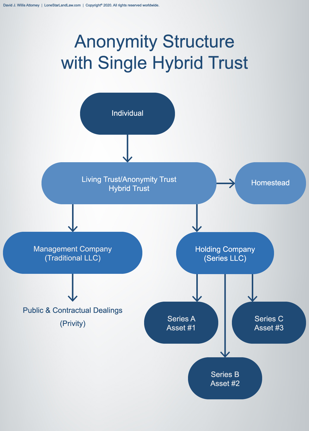 Anonymity Structure with Single Hybrid Trust